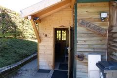 L'entrée du chalet Bruyères