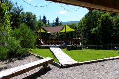 La terrasse pour la détente du chalet Bruyères