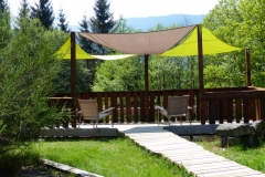 Nouvelle terrasse au chalet Bruyères