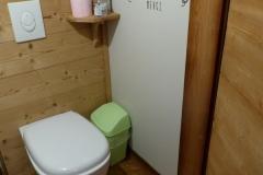 Les WC à l'étage