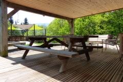 La terrasse du chalet Bruyères